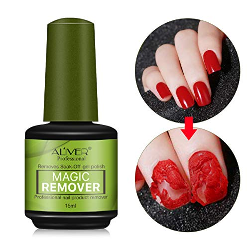 Magic Soak-Off Gel Nail Polish Remover Professional Remover Nail Polish Delete Primer Acrylic Clean Degreaser for Nail Art Lacquer in 3-5 Minutes Easily and Quickly No Hurt Your Nails (1pcs)