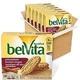 Belvita Cinnamon Brown Sugar Breakfast Biscuits, 6 Boxes of 5 Packs (4 Biscuits Per Pack)