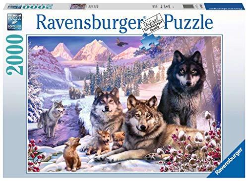 Ravensburger Puzzle 16012 Wölfe im Schnee 16012-Wölfe im Schnee-2000 Teile, Mehrfarbig