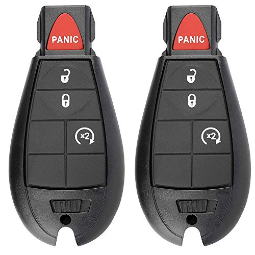 4 Button Replacement Car Key Fob Fobik GQ4-53T Keyless Entry Remote for 2013-2018 Dodge Ram 1500 2500 3500