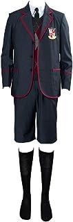 LJ123 Umbrella Academy Costume Cosplay Uniforme Scolastica Abito e Pantaloni Giacca per Uomo e Donna