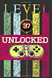 'Level 37 Unclocked, Retro, Start, Select, Game Over Notebook: 37th Birthday Vintage Journal, Playstation Pod, Retro Gift For Her For Him ': Vintage Classic 37th Birthday-Retro 37 Years Old Journal