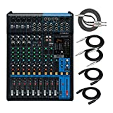 BUNDLE INCLUDES: Yamaha MG12XU 12-Input 4-Bus Mixer with Effects, Kirlin 3.5mm TRS to Dual 1/4 inch TS Stereo Breakout Cable, two XLR Male to XLR Female Microphone Cables (25-Feet) and two 1/4-Inch TRS Patch Cables (6-Feet) 3-BAND EQ AND HIGH-PASS FI...