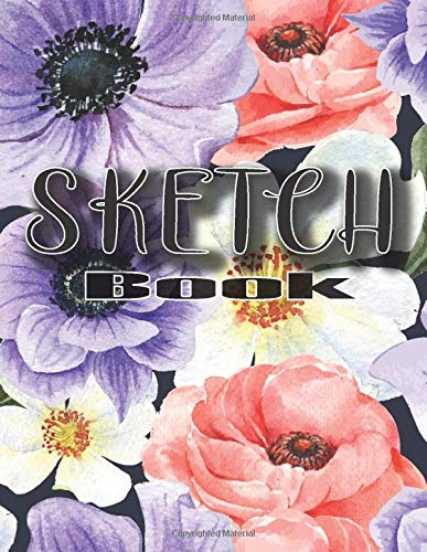 Sketchbook: large format notebook, with blank paper to draw, create sketches of tattoos, writing, drawing, coloring, scribbling