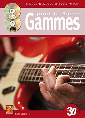 Gammes pour la basse en 3D (1 Livre + 1 CD + 1 DVD)