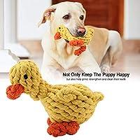 ペットのための家のための家のためのアヒルの形をした犬のおもちゃ犬の噛むおもちゃ、ロープフェッチおもちゃ