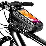 Faireach Sacoche Vélo Téléphone Étanche, Support Téléphone Vélo Cadre avec Ecran Tactile Sensible, Pochette Guidon Bicyclette du VTT Moto Grande Capacité 1L pour Smartphone sous 6,5 Pouces