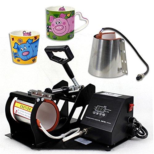 F2C 2 in 1 Mug Coffee Cup Heat Press Machine Digital Transfer Sublimation Machine W/ 2 11OZ 12OZ Attachment Suitable for F2C Pro Transfer Heat Press Machine 5 in 1/6 in 1