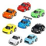 YIMORE Macchinine, Confezione da 8 Veicoli Mini Auto da Corsa Giocattolo Metallo Macchinin...