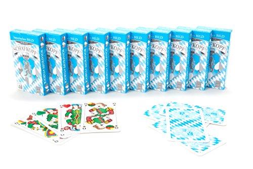 Nürnberger-Spielkarten-Verlag 10 x Schafkopfkarten Tarock Bayerisches Bild