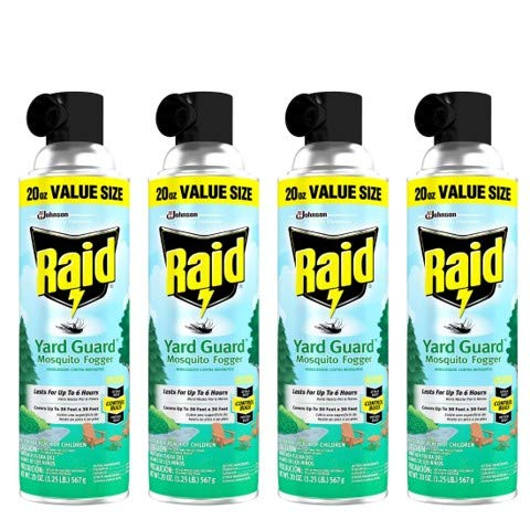 Raid Yard Guard, Mosquito Fogger 20 Oz (Pack of 4)