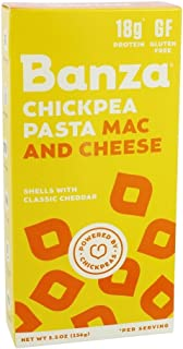 BANZA Chickpea Pasta Mac & Cheese, Shells & Cheddar, 6 Count
