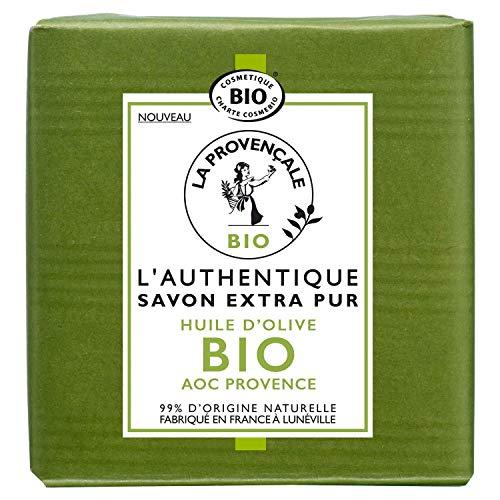 La Provençale – L'Authentique Savon Extra Pur - Huile d'Olive Bio AOC Provence – Pour Tous Types de Peaux, Même Sensibles – 100 g