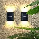 Luz solar 4pcs Luz solar LED Lámpara solar al aire libre con sensor de movimiento Lámpara solar Focos de luz solar con...