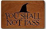 You Shall Not Pass - Felpudo para puerta de entrada, diseño de...