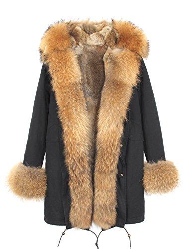 Fur Lined Parka Long Jacket