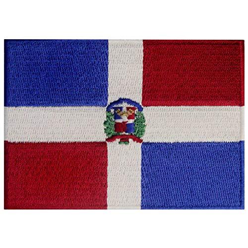 Dominikanische Republik Flagge Karibik Emblem Bestickter Aufnäher zum Aufbügeln/Annähen