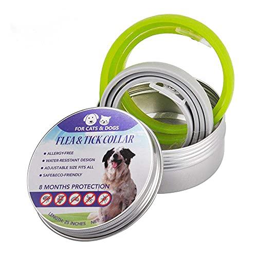 Le collier de chien anti puces et tiques KOBWA lot de 2