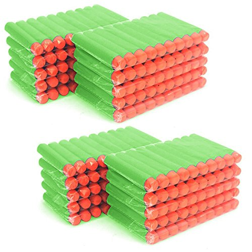 MCTECH® 200 Stück Soft Dosenwerfen SetfürDart Nerf Ziel für Nerf N-Streik Elite Blasters für Kinder Spielzeug Gun Soft Bullet (type A, grün)