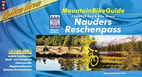 Bikeline MountainBikeGuide Nauders Reschenpass. 3 Länder Rad & Bike Arena. 1:35.000, wetterfest/reißfest