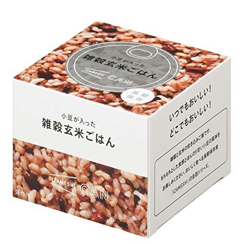 IZAMESHI(イザメシ) CAN 缶詰 小豆が入った雑穀玄米ごはん 1ケース 24缶入 長期保存食 防災食 非常食
