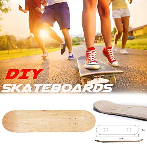 mementoy Decks Für Skateboards, 8 Zoll Blank Skateboard Deck, 8 Lagen Maple Blank Double Concave Skateboards Langlebig, Holz Ahorn Sweet