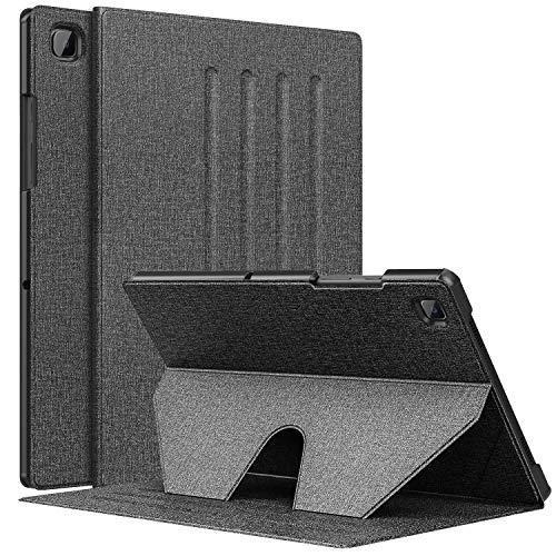 MoKo Funda Compatible con Samsung Galaxy Tab A7 10.4 Inch 2020 Model (SM-T500/505/507), Funda con Soporte Magnético para Stylus, Múltiples Ángulos de Visión y Con Auto Sueño / Estela, Negro