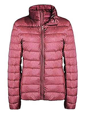 ZITY Short Down Jacket for Women,Packable Lightweight Down Jacket,Pink Large by ZITY