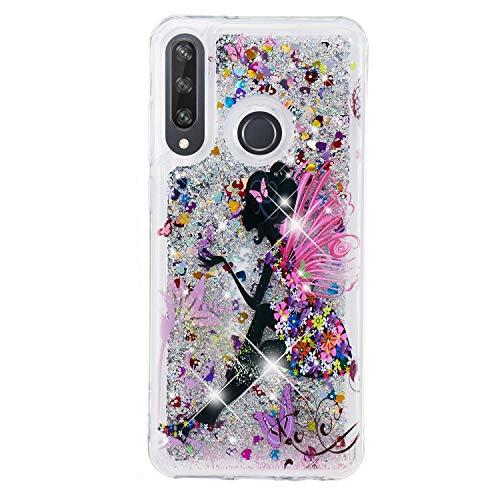 Funda para Huawei P Smart 2019 / Honor 10 Lite Fundas Glitter Liquida Silicona Bling Case Brillante Transparente Dibujo Carcasa Antigolpes Caso Cover - Elfo Femenino