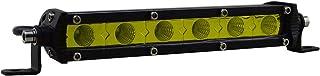 SKYWORLD 7 Zoll 17.8cm 30W Einreihige LED Lichtleiste Ultradünner Dünner Mini Flutlicht Offroad LED Wegfahrlichter Nebelscheinwerfer Bootsbeleuchtung Arbeitslicht, 3000K Gelb, 12V 24V