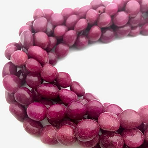 Ruby Smooth Nugget Approx 9x10mm 15.5' Strand