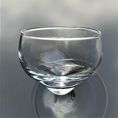 Kaheku Schwimmglas für Teelichter Schwimmschale Glas klar transparent d6,5 h5 cm
