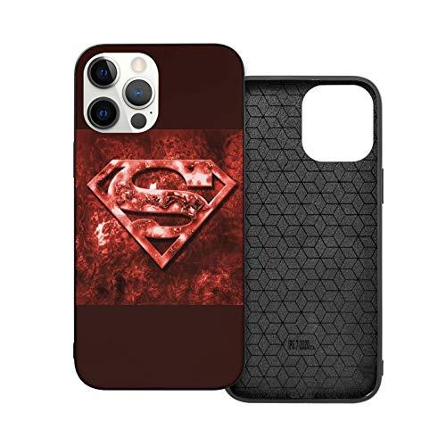 VOROY Super-Men Kal-El A-P-P-L-E - Funda básica para iPhone 12, color rojo