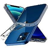 Aeska Schutzhülle für iPhone 12 Mini (13,7 cm / 5,4 Zoll), transparent, ultradünn, flexibel, TPU, kratzfest, Gel, Gummi, weich, Silikon