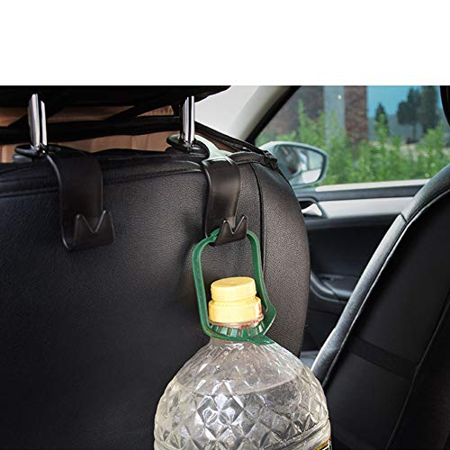 Haidong Set Of 4 Vehicle Hidden Hooks For Chair Back Hooks for Handbags, Purses, Coats, and Grocery Bags, Universal Vehicle Car Seat Back Headrest Bottle Holder Photo #7
