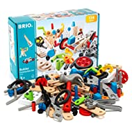 BRIO Builder 34587 - Builder Construction Set - 136-Piece Construction Set STEM Toy with Wood and Plastic Pieces for Kids Age 3 and Up