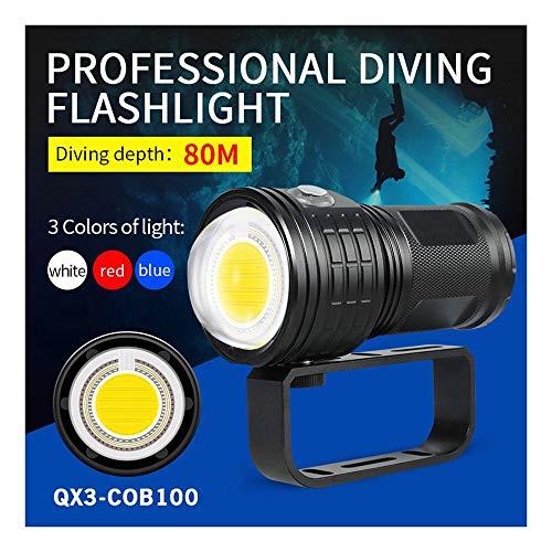 huichang Tauchlampe Unterwasser Taschenlampe, 50000 Lumen 80m wasserdicht LED taucherLampe - 500W Leistung - 300-500 Meter Bestrahlungsentfernung