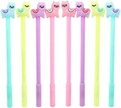 NYKKOLA Cute Colorful 8Pcs Lovely Sheep Alpaca Pen Gel Ink Rollerball Pens Stationery Llama Pen
