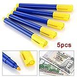 5 PCS Stylo roller détection argent détecteur, stylo détecteur de faux billets de...