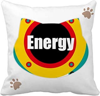 OFFbb-USA Youth Vitality Energy Cat - Funda cuadrada para almohada