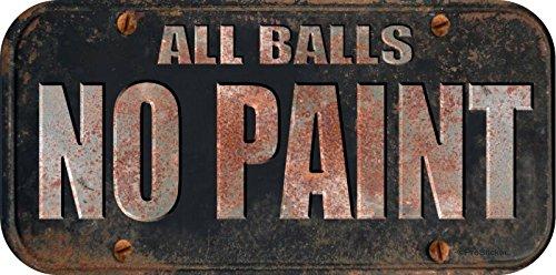 """ProSticker 740 4"""" X 8"""" Phantom Series All Balls No Paint Decal Sticker - Not A License Plate"""