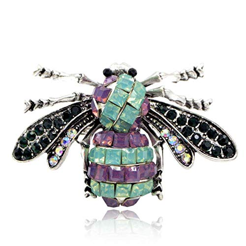 GLKHM Womens Brooches Floral Vintage Resin Bee Brooches Insect Brooch Pin Fashion Accessories