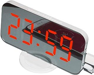 LED-display Digital Clock Automatic Reglerbar Table digital klocka väckarklocka med snooze-läge Dual USB Port, vit, röd di...
