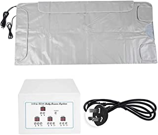 Detox Therapy Machine Infrared Sauna Blanket, 3 Zone Sauna Blanket, AU Plug 220V Thermal Body Slimming Sauna Blanket for M...