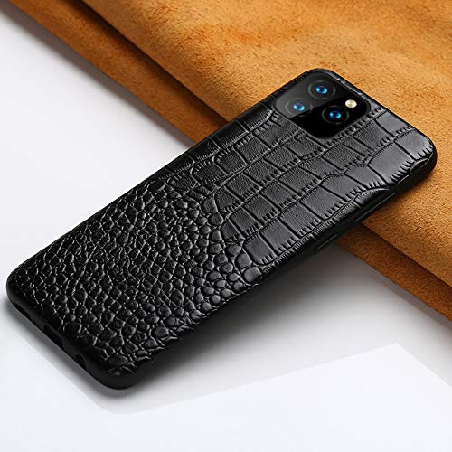 WGOUT Funda de Cuero de Lujo para teléfono para iPhone 12 Pro MAX 12 Mini 11 Pro MAX X XS MAX XR 6 6s 7 8 Plus 5 5S SE 2020 Funda magnética, Negro 2, para iPhone XS MAX
