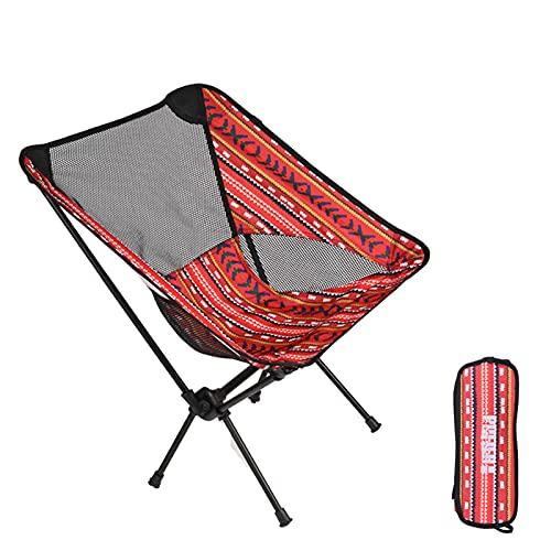 Pufier アウトドアチェア 折りたたみ 超軽量 選べる3色 耐荷重150kgコンパクト イス 椅子 収納袋付属 お釣り 登山 携帯便利 キャンプ椅子 (Red)