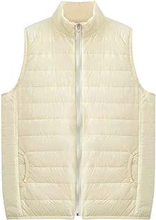 Macondoo Womens Winter Light Weight Puffer Waistcoat Slim Thick Zipper Stand Collar Down Vest Jacket