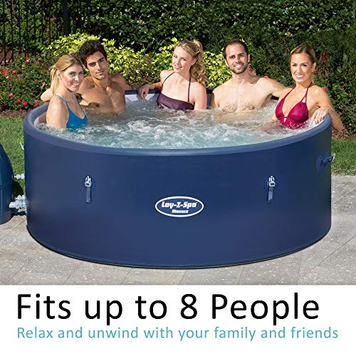 Lay-Z-Spa Monaco Hot Tub 2019 model, AirJet Inflatable Spa, 6-8 Person