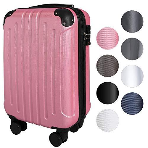 スーツケース アイリスプラザ キャリーバッグ 機内持込 軽量 Sサイズ 40L 軽量 拡張機能付 ダブルキャスター 1~3泊 旅行 ピンク