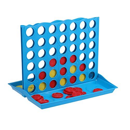 TOYMYTOY Juego conecta 4 juego cuatro en raya para niños adultos